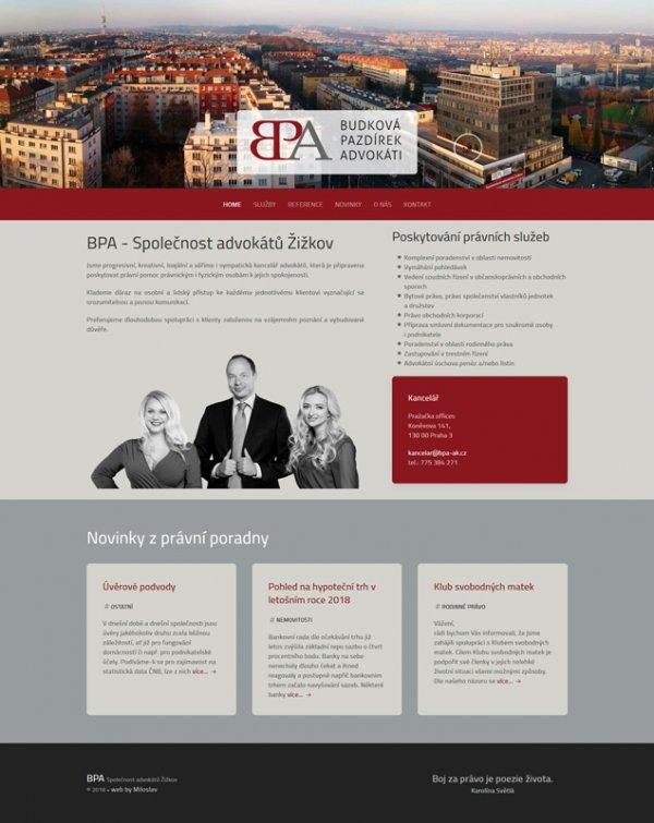 Web advokátní kanceláře